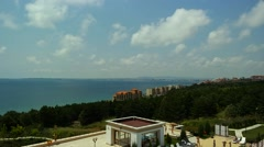 View to the Golden Sands Sea Coast in Bulgaria Stock Footage