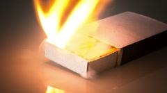 Explosion of matches in a matchbox Stock Footage