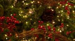 Traditional Christmas Tree Decoration -Tracking Shot- Stock Footage
