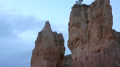 A snow storm at Bryce Canyon National Park Stock Footage