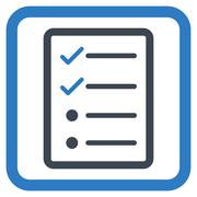 Checklist Page Flat Vector Icon - stock illustration