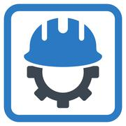 Development Hardhat Flat Vector Icon - stock illustration