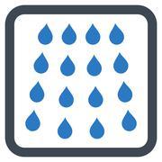 Drops Flat Vector Icon - stock illustration