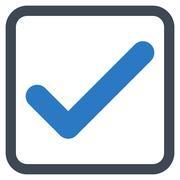 Ok Flat Vector Icon - stock illustration