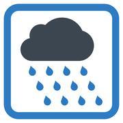 Rain Cloud Flat Vector Icon - stock illustration