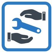 Service Flat Vector Icon - stock illustration