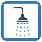 Shower Flat Vector Icon Stock Illustration