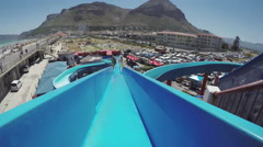 Point of view of someone going down waterside, Cape Town Stock Footage