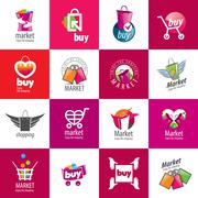 Vector shopping logo Stock Illustration