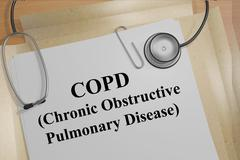 Copd concept - stock illustration
