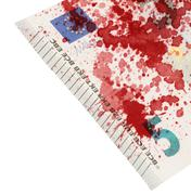 Close-up of a 5 euro bank note, stained with blood Kuvituskuvat