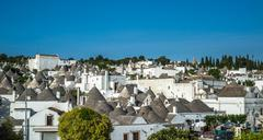 Traditional trulli houses, Alberobello, Puglia, Southern Italy Stock Photos