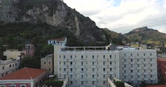 Hotel Building In Small Italian Village Stock Footage