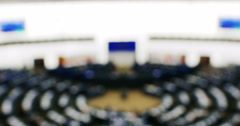 Plenary session of European Parliament - stock footage