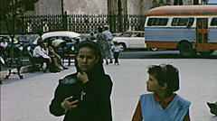 Chihuahua, Mexico 1965: people walking in the street Arkistovideo