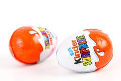 Kinder Surprise Chocolate Eggs Stock Photos