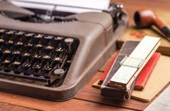 Details on antique typewriter Stock Photos