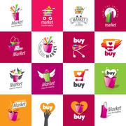 vector shopping logo - stock illustration