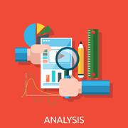 Analysis of Actions Infographic Stock Illustration