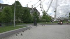Sculpture in Jubilee Gardens in London Stock Footage