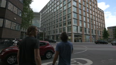 RBS building on Southwark Street in London Stock Footage
