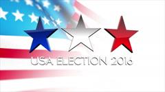 Usa 2016 election 4 Stock Footage