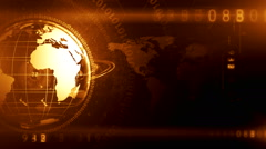 Globe and maps digital background 13 Stock Footage