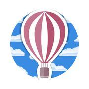 Hot Air Balloon - stock illustration