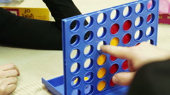 Connect Four board game Stock Footage