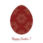 Stock Illustration of Easter egg decorated floral seamless ornament