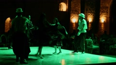 Hurghada, Egypt - February 26, 2016 Men and women dance traditional Egyptian Arkistovideo