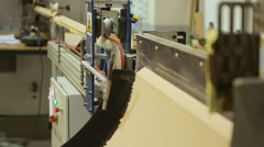Production line at a paper factory Stock Footage