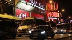 Moulin Rouge, Paris, France Stock Footage
