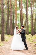 Dance wedding couple Stock Photos