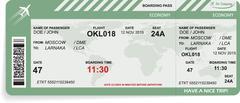 Stock Illustration of Vector illustration of pattern of boarding pass