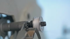 Sewing machine - spinning a bobbin slow Stock Footage