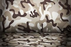 Desert Camouflage background - stock illustration