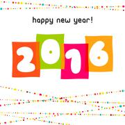 Vector 2016 Happy New Year background.  The file is saved in the version AI10 Piirros