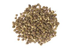 Top view of Oolong leaves rolled into balls Stock Photos