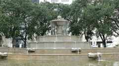 Water fountain at Plaza Hotel, Fifth Avenue, Manhattan, New York - stock footage