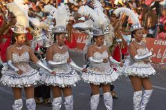 Morenada Dance Group - stock photo