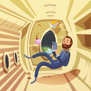 Stock Illustration of Spaceship Interior Illustration