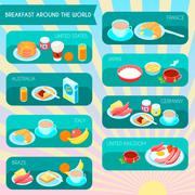 Types Of Breakfast Infographic Stock Illustration