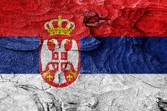 Serbia flag - stock illustration