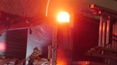 Firetruck Flashing Emergency Lights - Nighttime Arkistovideo