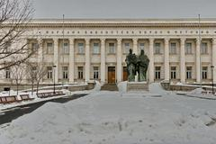National library Cyril and Methoduis in winter Stock Photos