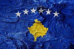 Kosovo flag Stock Illustration