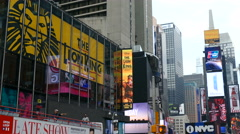 Billboards, Screens and Digital Ads in Times Square, Manhattan, New York - stock footage