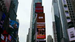 Billboards, ads and buildings in Times Square, Manhattan, New York Stock Footage