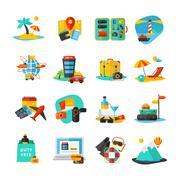 Travel Icon Set - stock illustration